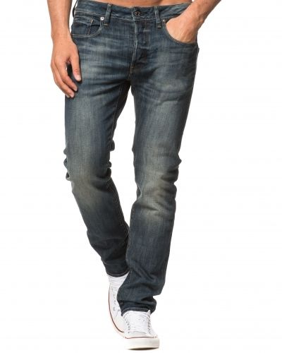 3301 Slim Tapered Blue Delm Stretch G-Star blandade jeans till herr.