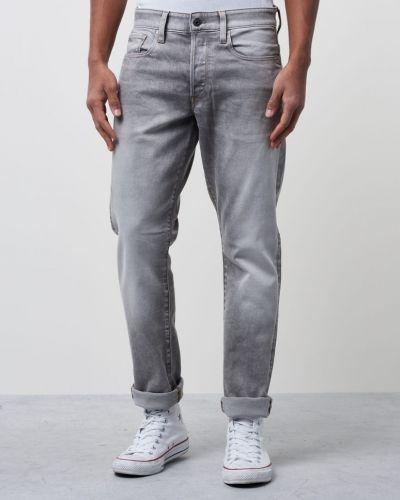 3301 Tapered Kamden Grey Stretch G-Star blandade jeans till herr.