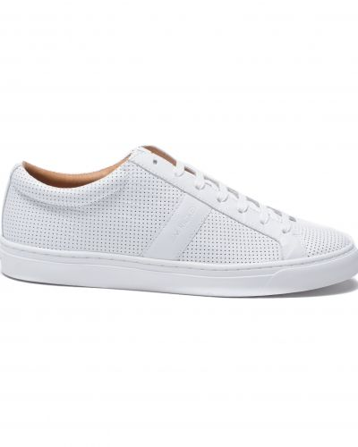 Jim Rickey Ace Low Perforated Leather White