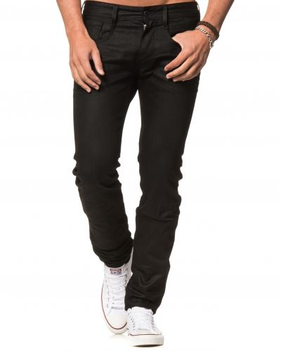 b9ac03d9888 Replay - Anbass Black Coated Slim Tapered. Blandade jeans ...