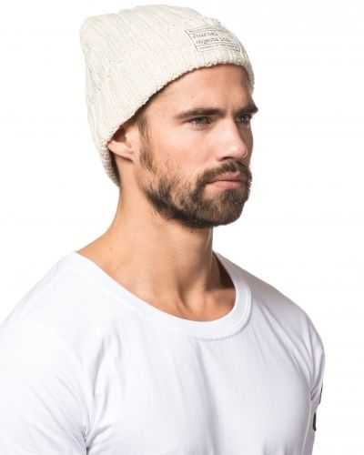Journal Objects Ltd Andrew Beanie Off White/Beige Mel