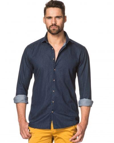 Jeansskjorta 101 Brobacka 1015 Denim Sanbuca Dark Denim från Nils
