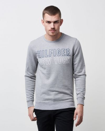 Sweatshirts Basic CN H Knit L/S 10 038 Light Grey HTR från Hilfiger Denim