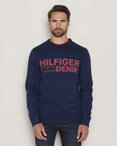 Blå sweatshirts från Hilfiger Denim till killar.