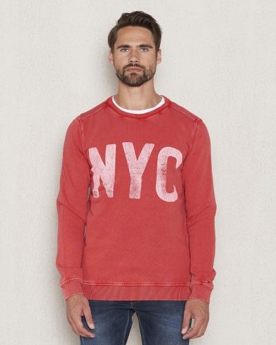 Sweatshirts Basic CN Hknit 7 Red från Hilfiger Denim