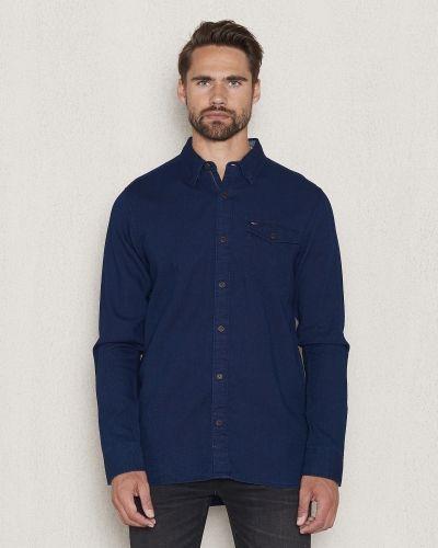 Lila jeansskjorta från Hilfiger Denim till herr.