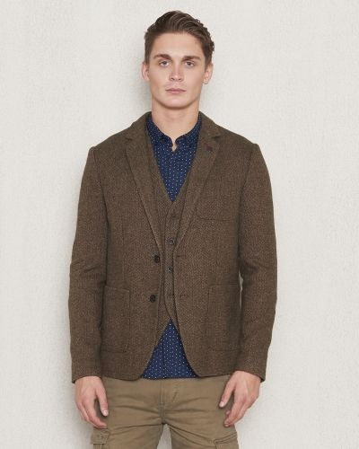 Dstrezzed Blazer Wool Tweed Coffe Melange