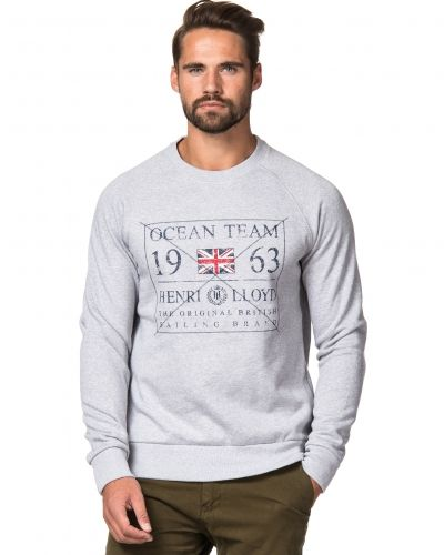Blyford Crew Sweat Light Grey Henri Lloyd sweatshirts till killar.