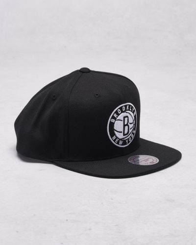 Mitchell & Ness Wool Solid/Solid 2 Snapback Brooklyn Nets Black