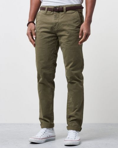 Chino Pants w Belt Army Dstrezzed chinos till herr.