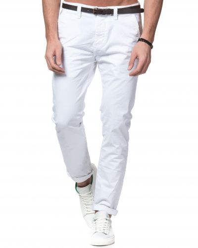 Dstrezzed Chinos With Belt White