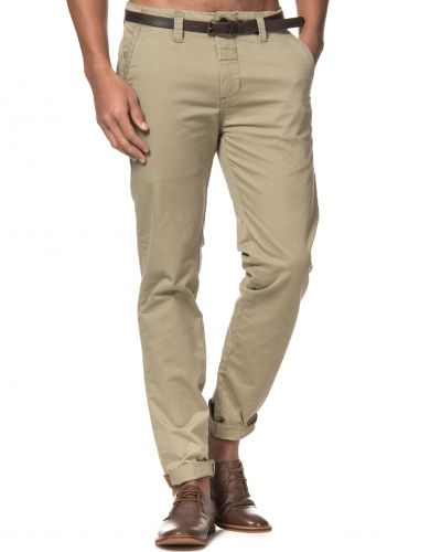 Dstrezzed Chinos With Belt Army Green