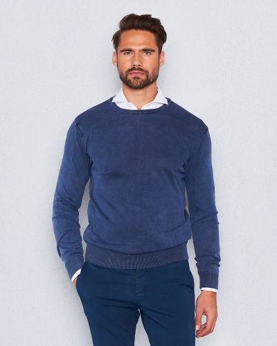 Cottonius Navy Sweater från Castor by Castor Pollux
