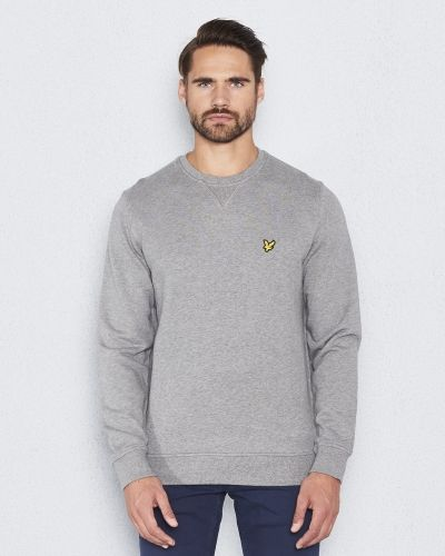 Crew Neck Sweatshirt T28 Light Grey Lyle & Scott sweatshirts till killar.