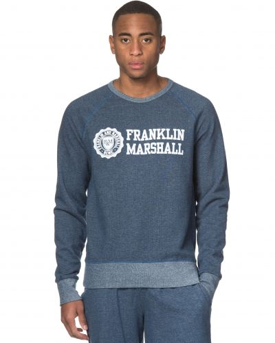 Denim Fleece Sweat Navy Melage Franklin & Marshall sweatshirts till killar.