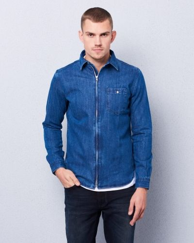 Jeansskjorta Denim Shirt 1091 Peacoat från Knowledge Cotton Apparel