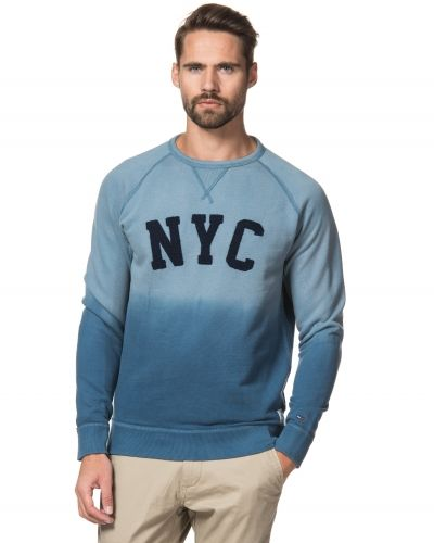 Hilfiger Denim Dip Dye Sweater 427 Copen Blue