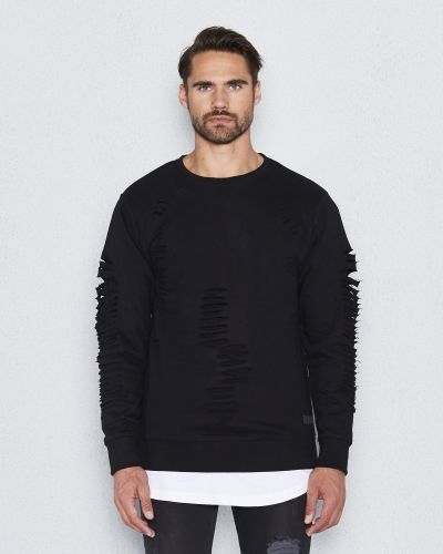 Things To Appreciate Distressed Sweat Black