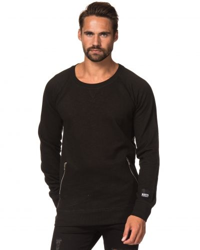 Sweatshirts Duncan Club Sweater Black från William Baxter