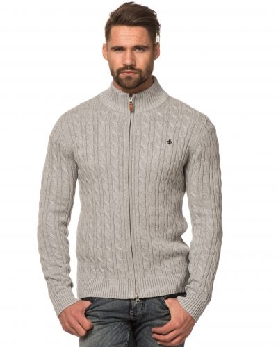 Earl Cable 91 Grey Cable Zip Cardigan