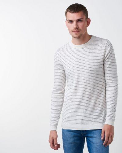 Egbert O - Neck White Samsøe & Samsøe stickade tröja till herr.