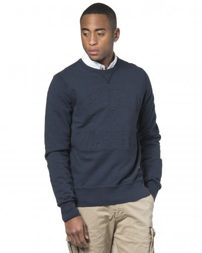 Franklin & Marshall Embossed Sweat Navy