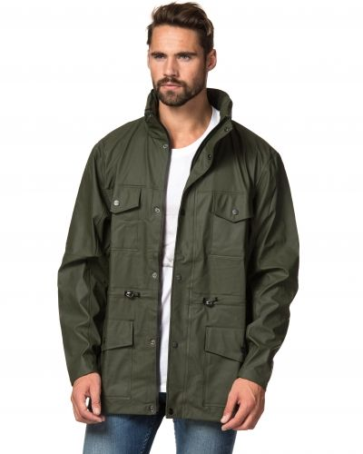 Rains Four Pocket Jacket Green