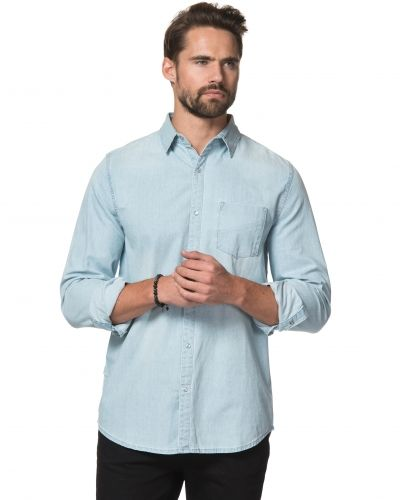 Jeansskjorta Frank Denim Shirt Light Blue från Mouli