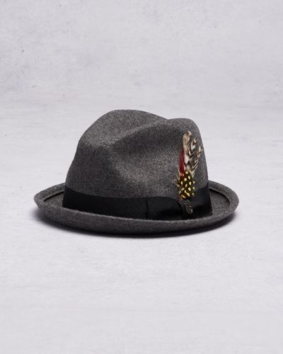 Brixton Gain Fedora Heather