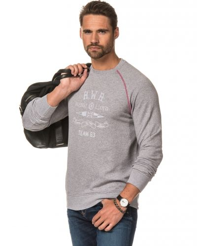 Sweatshirts Greenfield Crew Sweat Light Grey från Henri Lloyd