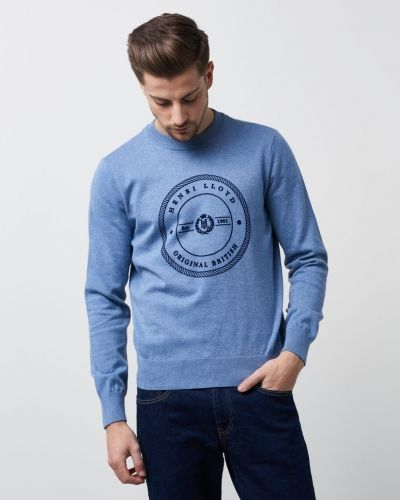 Henri Lloyd Hampton Regular Crew Neck Knit Frost Marl