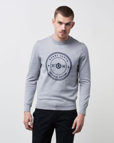 Sweatshirts Hampton Regular Crew Neck Knit Grey från Henri Lloyd