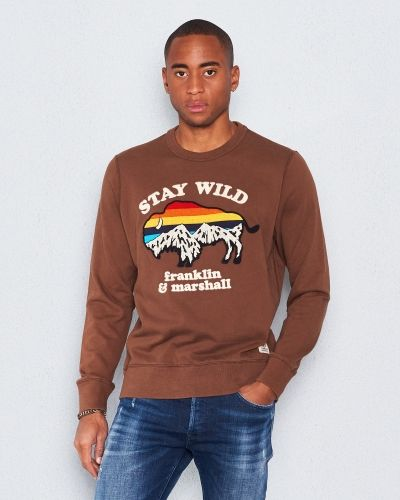 Sweatshirts Hiking Sweat Camp Brown från Franklin & Marshall