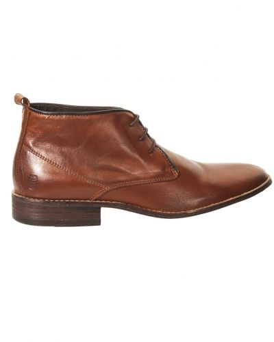 Wooden Barrel James Laced Leather Boots Brown