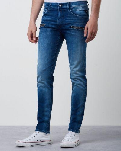 Jondrill Used Blue Zip Replay blandade jeans till herr.