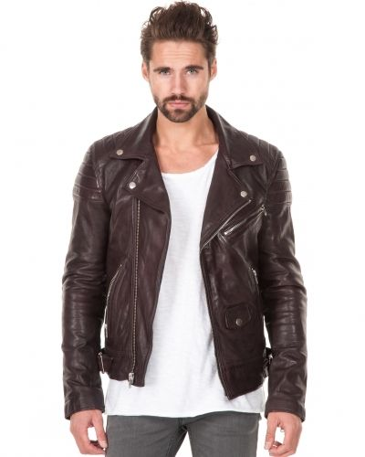 BLK DNM Leather Jacket 31 Obergine