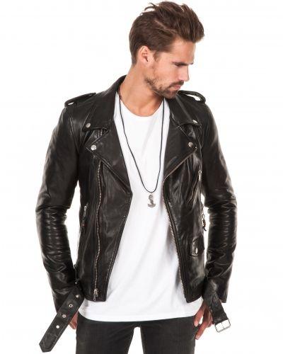 Skinnjacka Leather Jacket 5 Black från BLK DNM