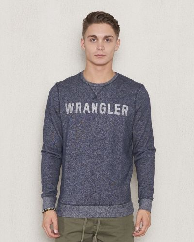 Wrangler Logo Crew Sweat Navy