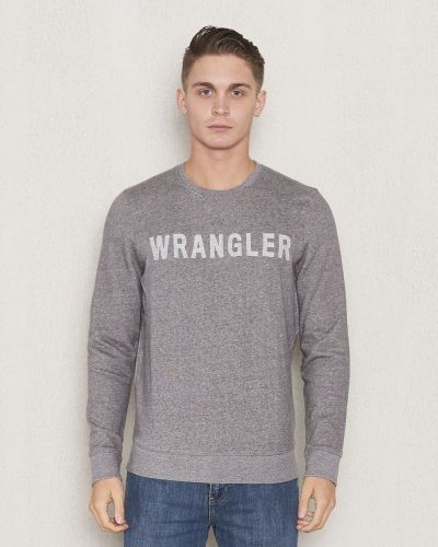 Wrangler Logo Crew Sweat Mid Greymelange