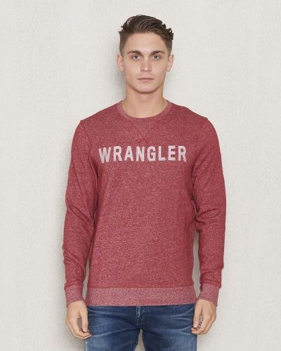 Sweatshirts Logo Crew Sweat Red från Wrangler