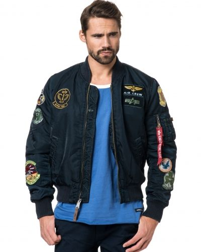 Alpha Industries MA1 Pilot Bomber Replica Blue Ovd