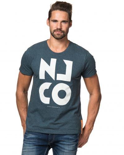 NJCO Tee Blue Melage Nudie t-shirts till herr.