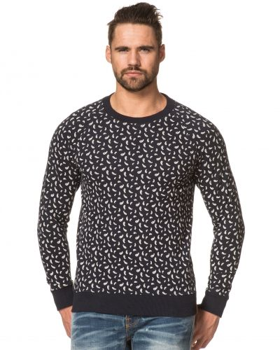 Knowledge Cotton Apparel Paisley Printed Sweat 1001 Navy