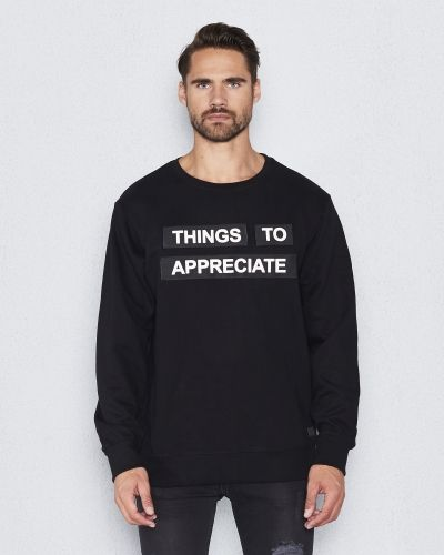 Sweatshirts Patch Sweat Black från Things To Appreciate