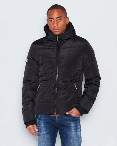 Superdry Polar Sports Puffer Black Cobalt