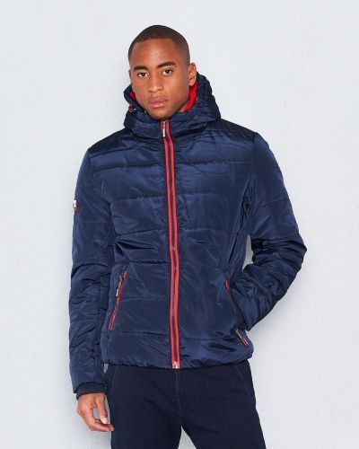 Superdry Polar Sports Puffer Navy Red