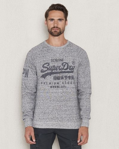 Superdry Premium Goods Crew Grey Marl