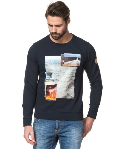 Replay Print Sweat Navy