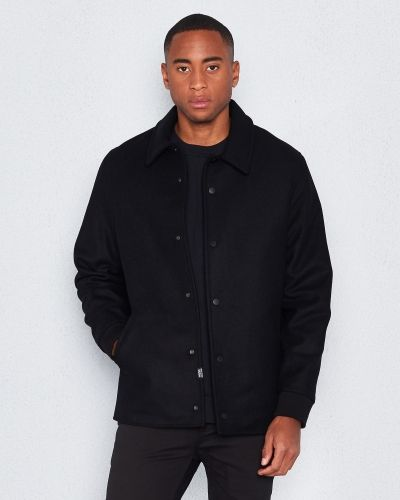 Rock Robby wool coat black från WeSC