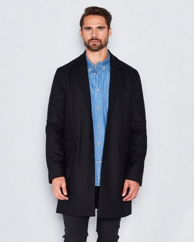WeSC Rock wool coat black